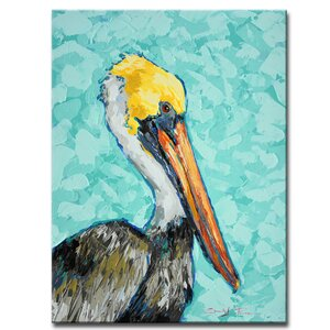 'Pelican' by Sarah LaPierre Painting Print on Wrapped Canvas by Ready2hangart