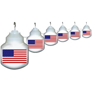 Compare prices 6-Light American Flag String Lights By Polymer Products