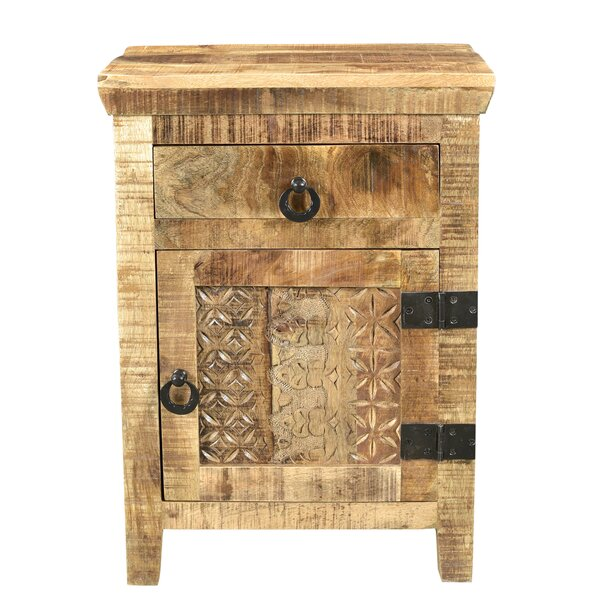 Ridder 1 Drawer and 1 Door Nightstand by World Menagerie