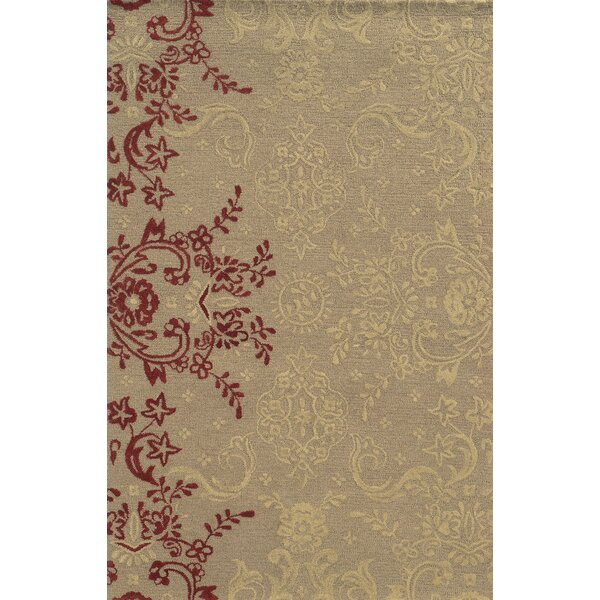 Said Hand-Tufted Light Brown Area Rug by Meridian Rugmakers