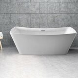 62 x 24.8 Freestanding Soaking Bathtub by Streamline Bath