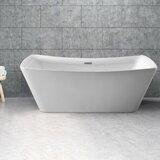 62 x 24.8 Freestanding Soaking Bathtub byStreamline Bath
