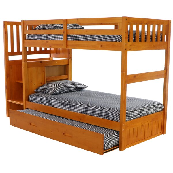 Niccolo Twin Over Twin Bunk Bed with Trundle and Drawers by Birch Lane™ Heritage