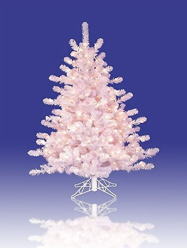crystal 3 white artificial christmas tree with 70 pre lit clear lights with stand - Artificial Christmas Trees With Lights