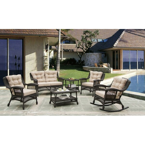Grund Outdoor Garden 6 Piece Sofa Seating Group with Cushions by August Grove