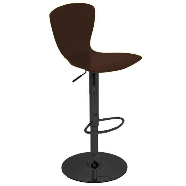 Ranson Adjustable Height Swivel Bar Stool by Wrought Studio
