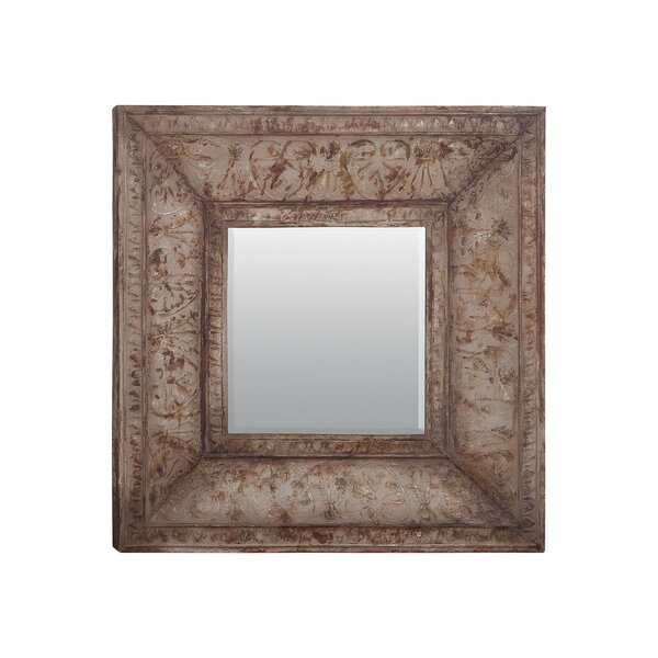 Square Metal Accent Wall Mirror by One Allium Way