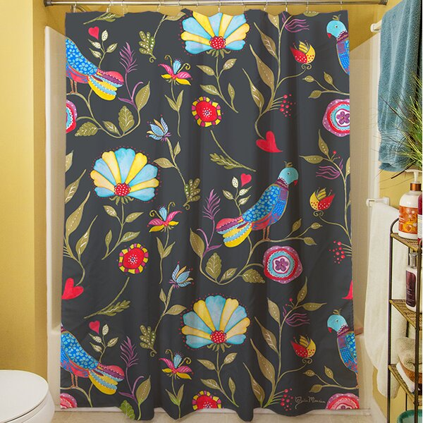 Early Bird Shower Curtain by Manual Woodworkers & Weavers