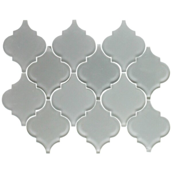 Teardrop Random Sized Glass Mosaic Tile in Gray by Susan Jablon