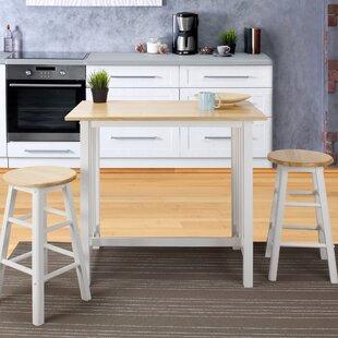 Space saver kitchen table set wayfair sigrid 3 piece counter height pub table set workwithnaturefo