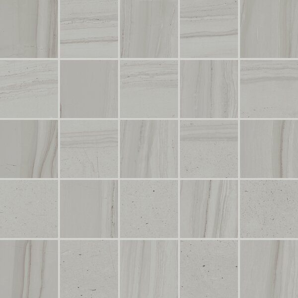 Travel 12 x 12 Porcelain Mosaic Tile in Polar White by Lea Ceramiche