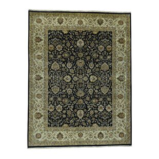 Savings One-of-a-Kind Bales Fine New Zealand Oriental Hand-Knotted Wool Black Area Rug By Isabelline