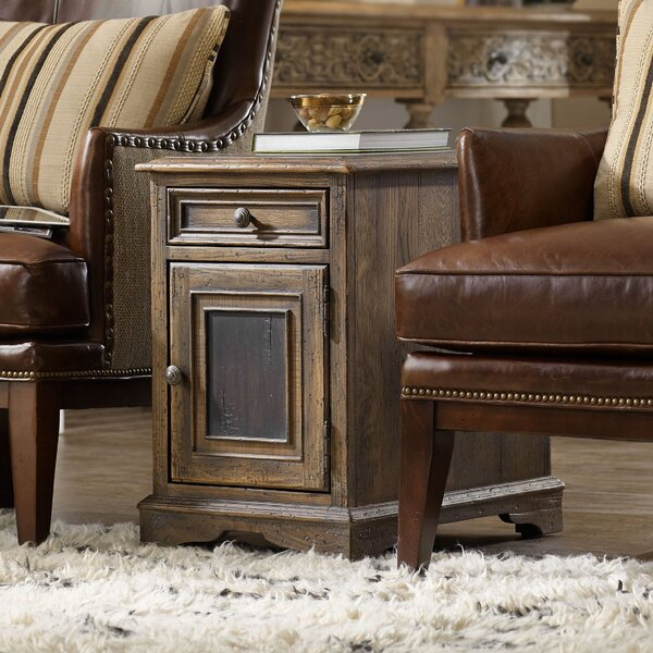 Hill Country  End Table With Storage By Hooker Furniture