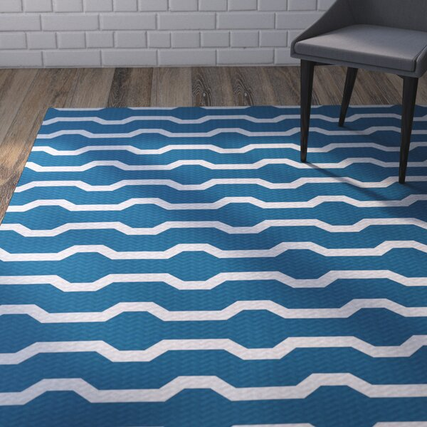 Uresti Decorative Holiday Geometric Print Turquoise Woven Indoor/Outdoor Area Rug by Wrought Studio