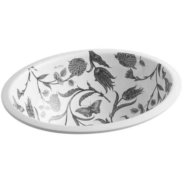 Botanical Study Ceramic Oval Undermount Bathroom Sink by Kohler