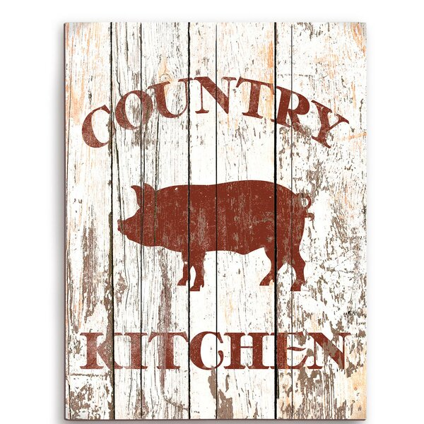 Pig Country Kitchen Painting Print by Click Wall Art