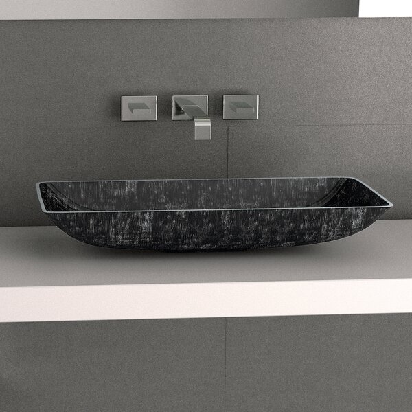 Nek Metal Rectangular Vessel Bathroom Sink by Maestro Bath