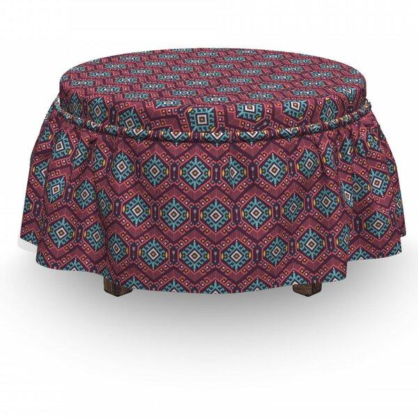Tribal Hipster Tribal 2 Piece Box Cushion Ottoman Slipcover Set By East Urban Home