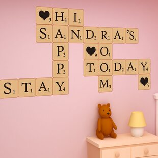 Scrabble Puzzle Lettering Wall Decal