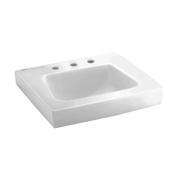 Roxalyn Ceramic 20 Wall Mount Bathroom Sink with Overflow by American Standard
