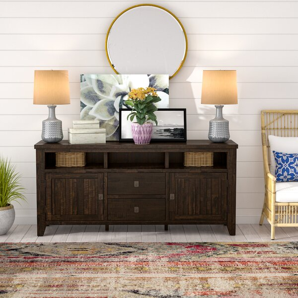 Review Cadwallader Solid Wood TV Stand For TVs Up To 78