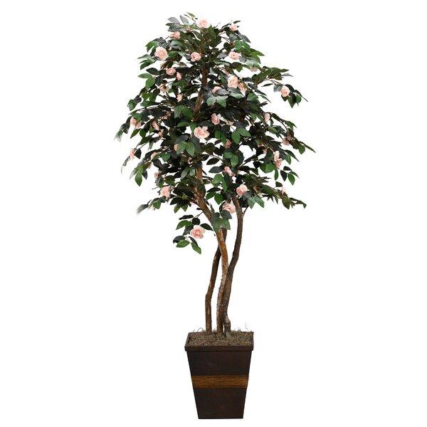 Floor Flowering Tree in Planter by World Menagerie