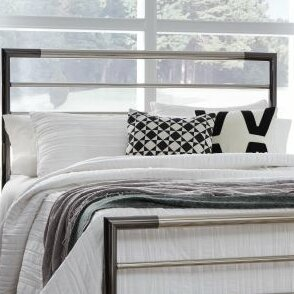 Latitude Run Cherwell Metal 2 Piece Open Frame Headboard And Footboard Set  | Wayfair