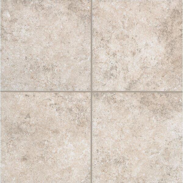 Pensdale Floor Glazed 18 x 18 Porcelain Field Tile in White Shell by Mohawk Flooring
