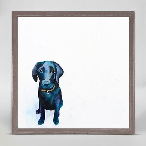 'Best Friend - Baby Black Lab' by Cathy Walters Framed Print of Painting by GreenBox Art