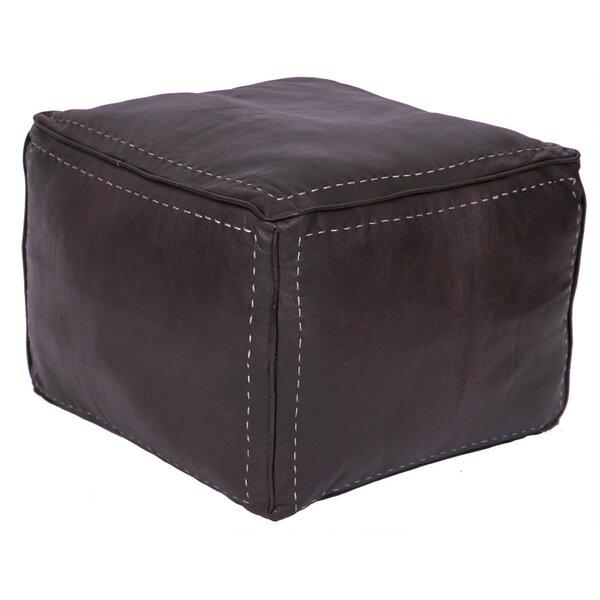 Discount Lidiya Leather Pouf