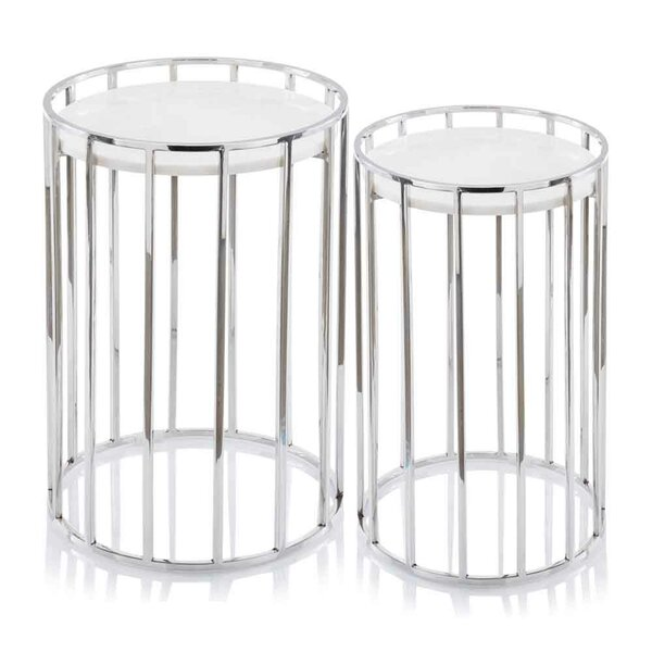 Mervela Marble 2 Piece Nesting Tables by Orren Ellis