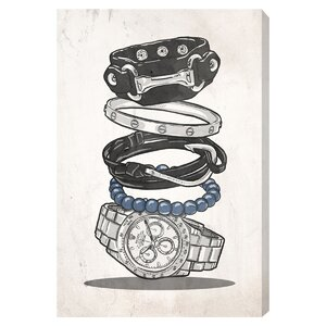 'Gentleman Arm Candy' Graphic Art on Wrapped Canvas by Willa Arlo Interiors