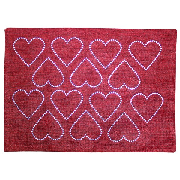 Rhinestone Heart Placemat by Sparkles Home