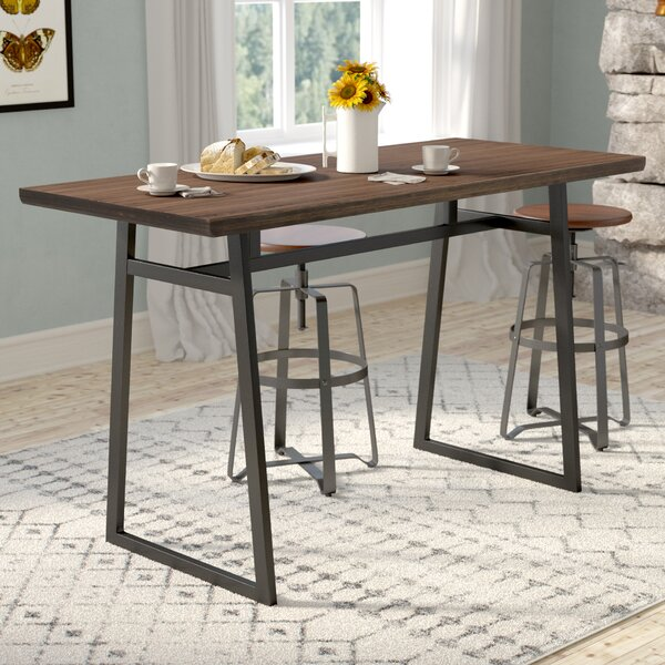 Platane Industrial Counter Height Dining Table by Gracie Oaks