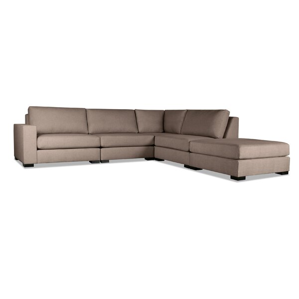 Brose Right Hand Facing Modular Sectional With Ottoman By Brayden Studio