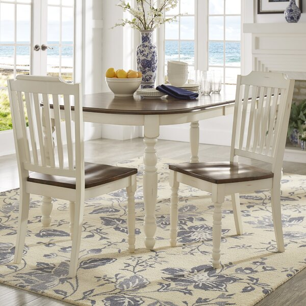 Whiteland Solid Wood Dining Chair (Set of 2) by Three Posts