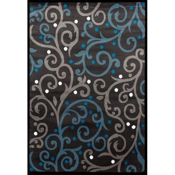 Sharen Modern Gray/Blue Area Rug by Winston Porter