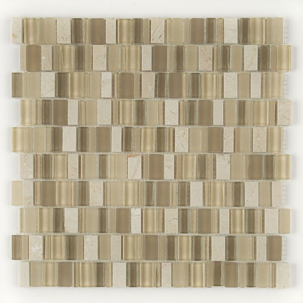 Clio Random Sized Glass Mosaic Tile in Nox by Daltile