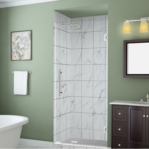 Belmore GS 63 x 72 Hinged Frameless Shower Door by Aston