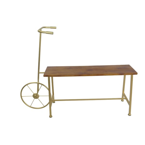 Bicycle Wood And Metal Bench By Sagebrook Home Best #1