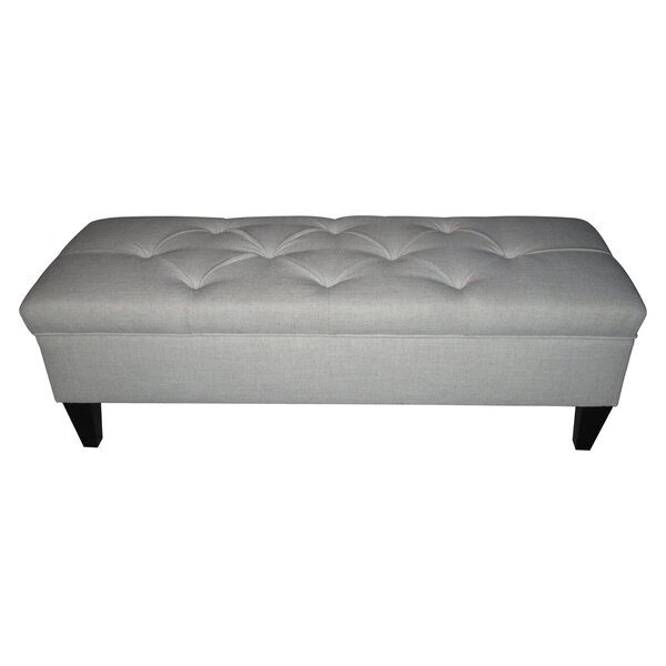 Potrero Upholstered Storage Bench by Alcott Hill