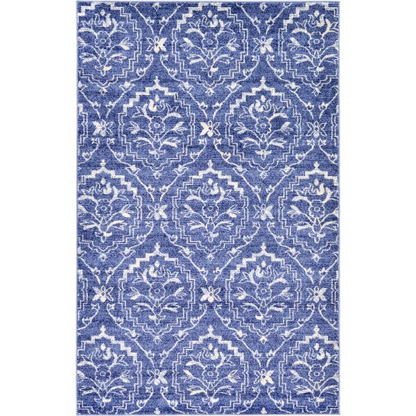 Ezequiel Blue Area Rug by Bungalow Rose