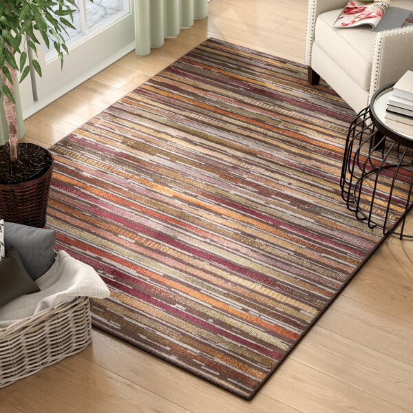 Lankford Brown/Red Indoor/Outdoor Area Rug by Andover Mills