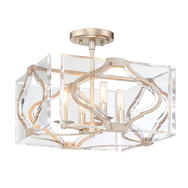 Brenton Cove 4-Light Candle Style Rectangle / Square Chandelier By Metropolitan By Minka
