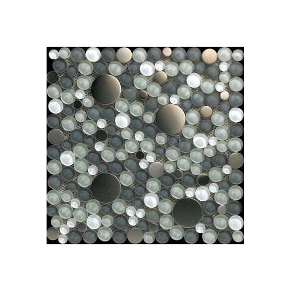 12 x 12 Steel/Glass Mosaic Tile in Mixture by Kellani