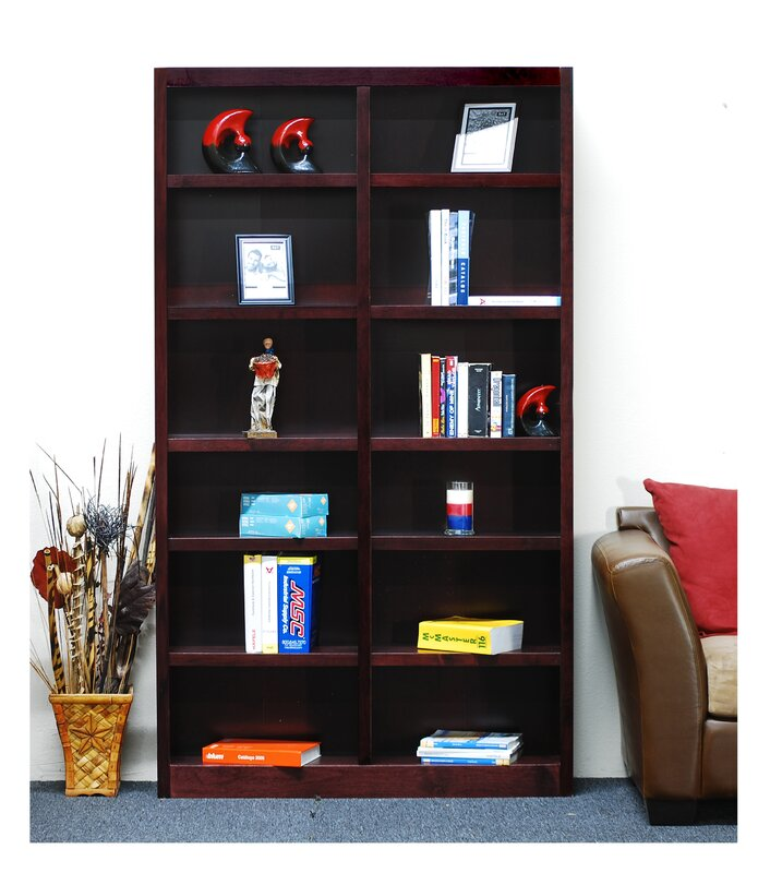 grande inhome products curved by furniture red modern no dust bookcase