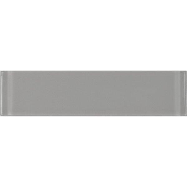 Metro 3 x 12 Glass Field Tile in Gray by Abolos