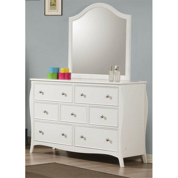 Kilduff 7 Drawer Dresser with Mirror by Winston Porter