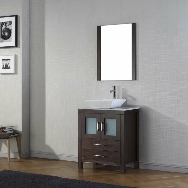 Cartagena 25 Single Bathroom Vanity Set with Mirror by Mercury Row