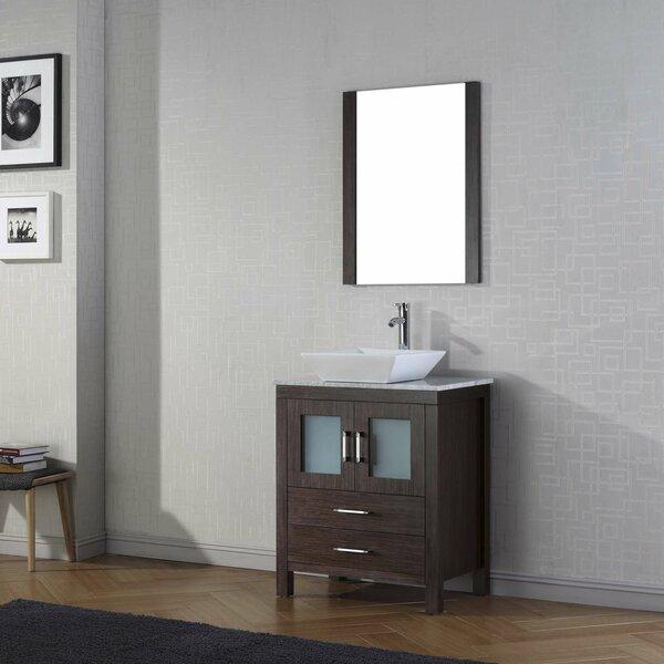 Cartagena 25 Single Bathroom Vanity Set with Mirror by Mercury Row